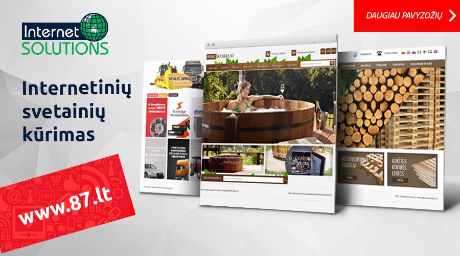 Mes Sukursime Orginalų Dizainą Ir Suprogramuosime Svetainę Pagal Jūsų Poreikius www.87.lt
