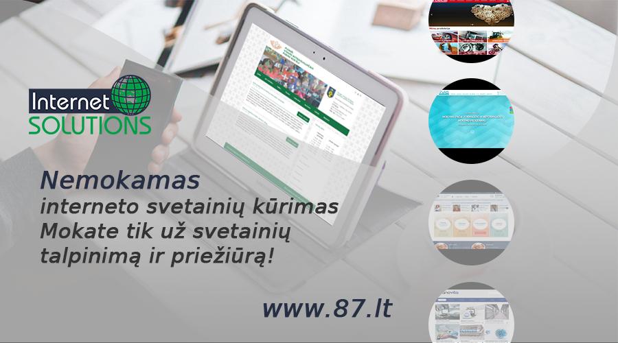 www.87.lt – tai įmonė, kurioje galite susikurti internetinę svetainę ir išplėsti savo verslą internete +370 610 49600