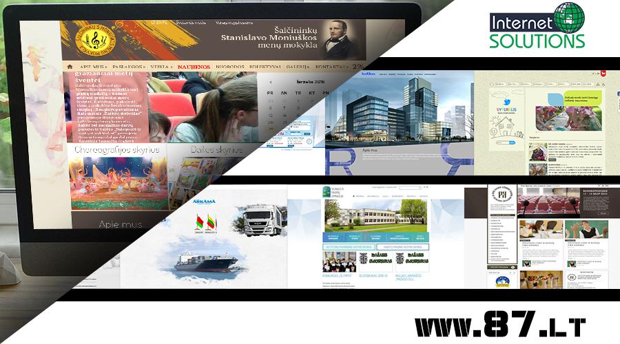 Reprezentacinių svetainių kūrimas Informacinės svetainės, Elektroninės parduotuvės, Unikalus sprendimai – +370 610 49600