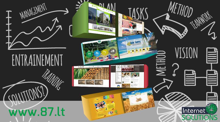 Interneto svetainių kūrimas, elektroninės parduotuvės, verslo valdymo sistemos, marketingo paslaugos, socialinių tinklų administravimas www.87.lt