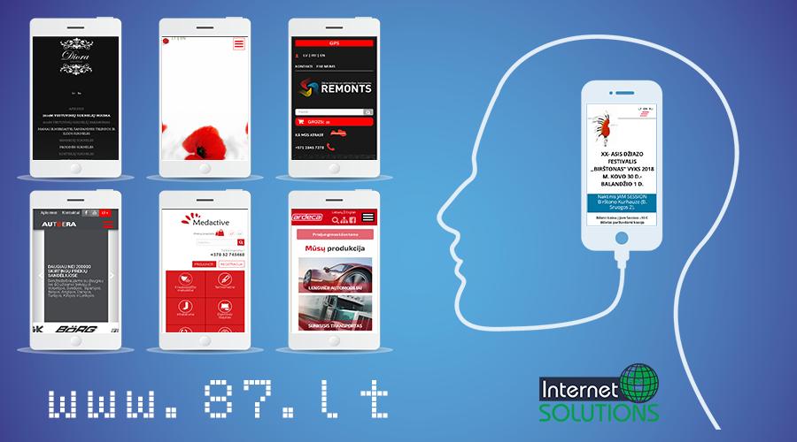 Internetinių svetainių kūrimas individualiai pagal Jūsų poreikius. Internetinis marketingas. Priežiūra ir tobulinimas www.87.lt