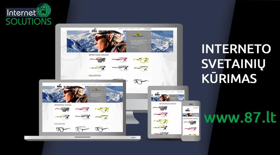 Interneto svetainių kūrimas +370 610 49600   www.87.lt